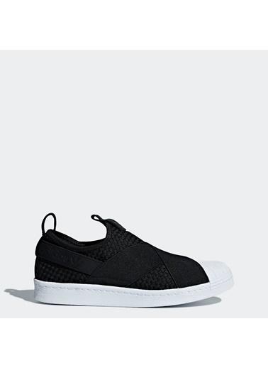 adidas Unisex Superstar Bağcıksız Sneakers CQ2487 Siyah